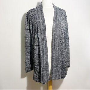 WHITE STAG open shawl collar cardigan pockets 2X